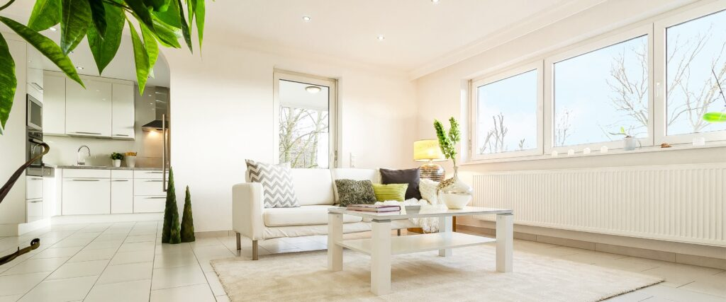 Bewohnte Immobilie mit Home Staging